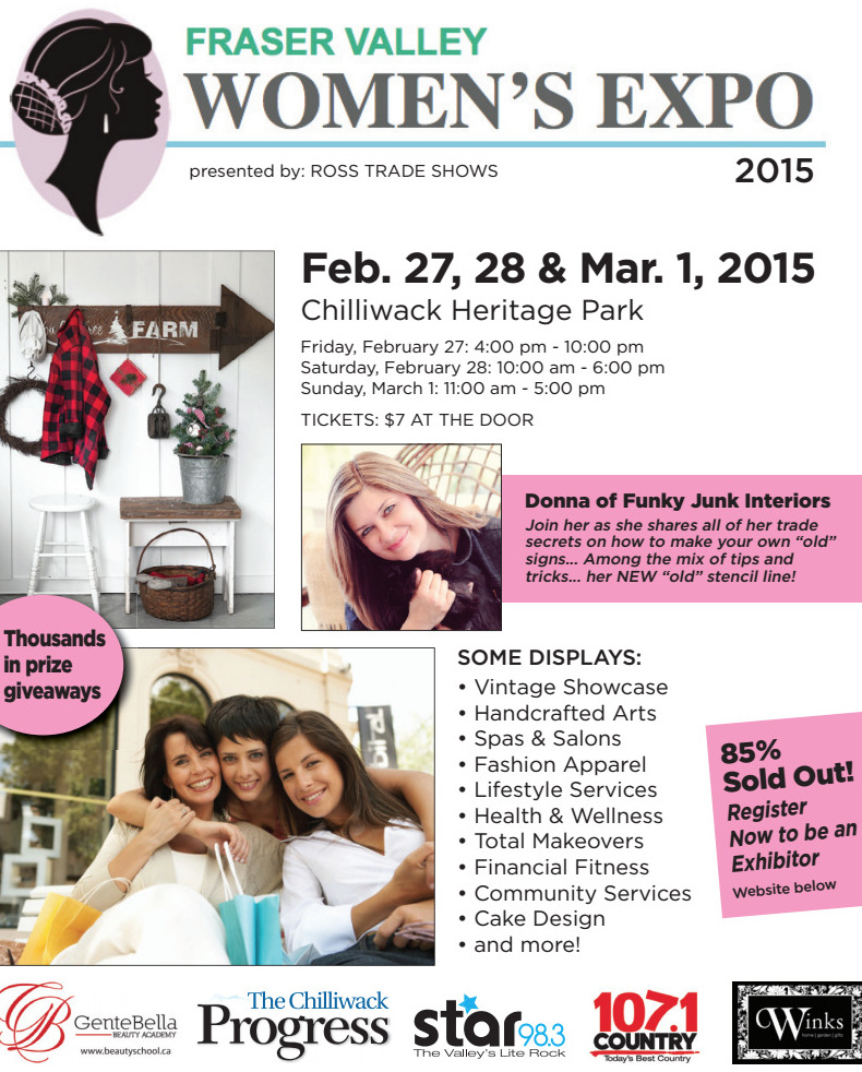 Fraser Valley Women's Expo 2015 / Public speaking on another chapter, on FunkyJunkInteriors.net