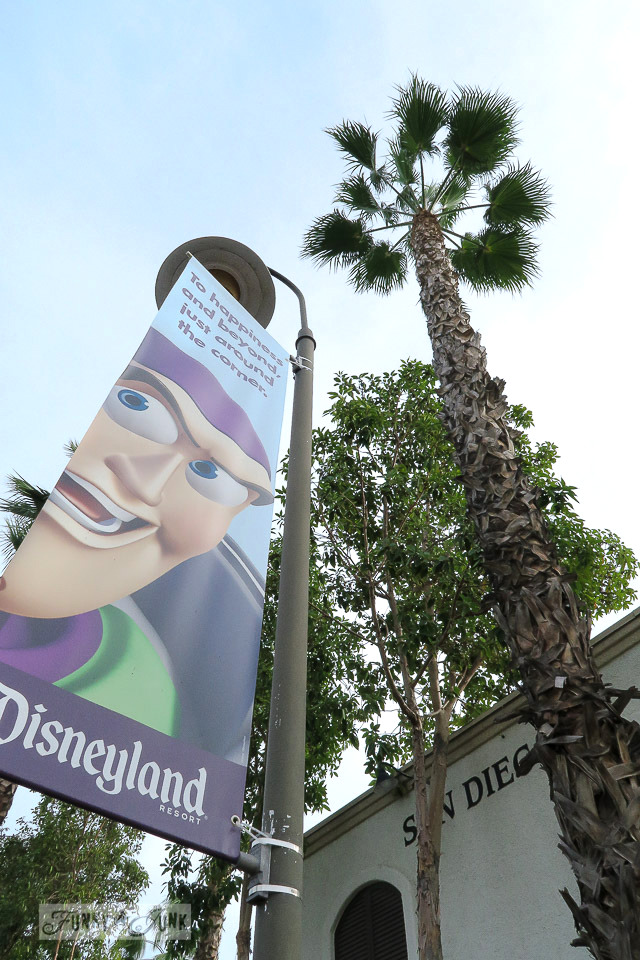 Disneyland road sign of Buzz Lightyear  / FunkyJunkInteriors.net