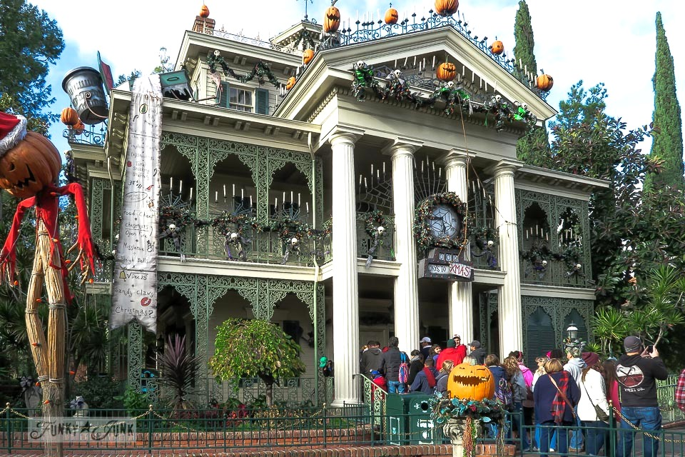 Haunted Mansion at Disneyland during Christmas / FunkyJunkInteriors.net