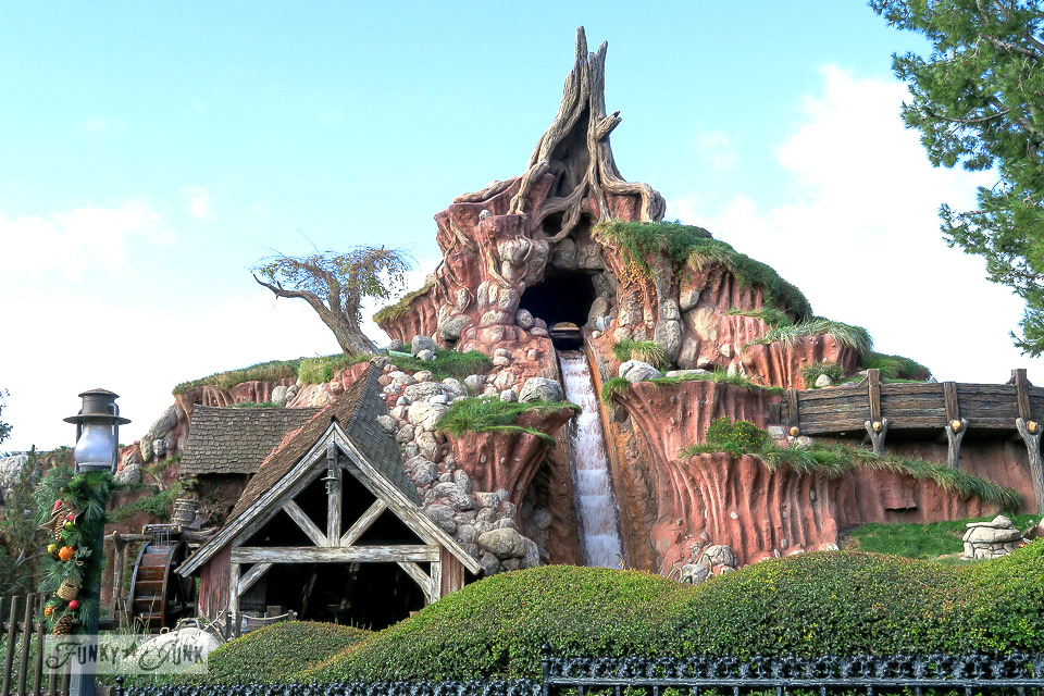 The down hill at Splash Mountain at Disneyland during Christmas  / FunkyJunkInteriors.net