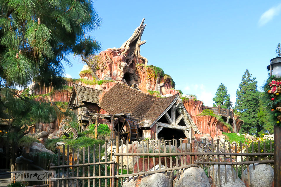 Splash Mountain at Disneyland during Christmas on a sunny day  / FunkyJunkInteriors.net