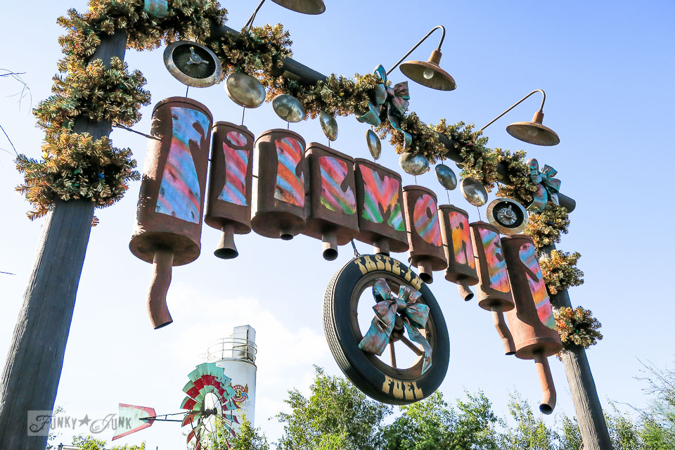 Car filter sign / Merry Cars Christmas at Disneyland via FunkyJunkInteriors.net
