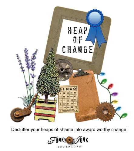 Heap of Change Challenge / join us as we declutter our spaces from heaps of shame to award worthy change! on FunkyJunkInteriors.net