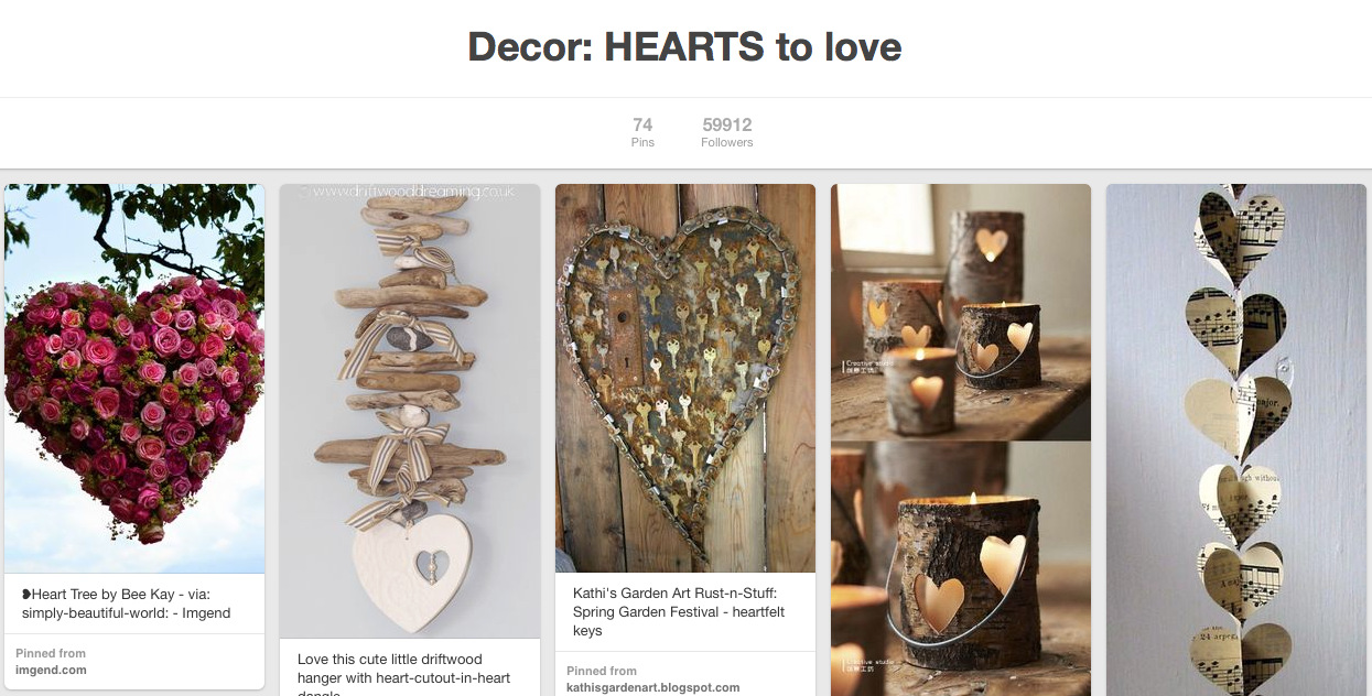 Salvaged junk hearts on Pinterest.42 AM