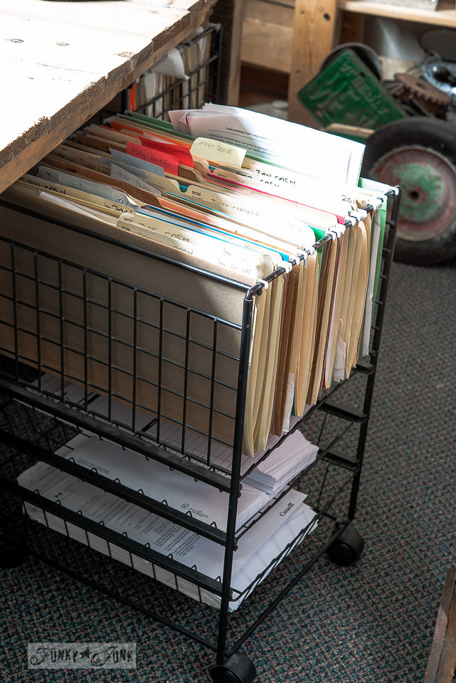 Rolling file cart with drawers /  FunkyJunkInteriors.net