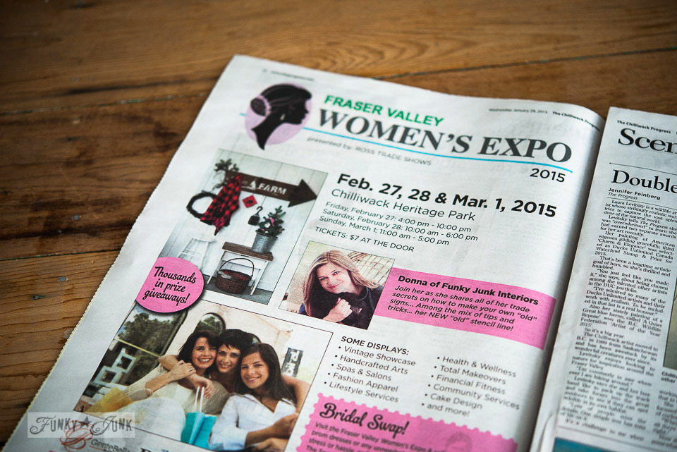 Fraser Valley Women's Expo / Public speaking on another chapter, on FunkyJunkInteriors.net