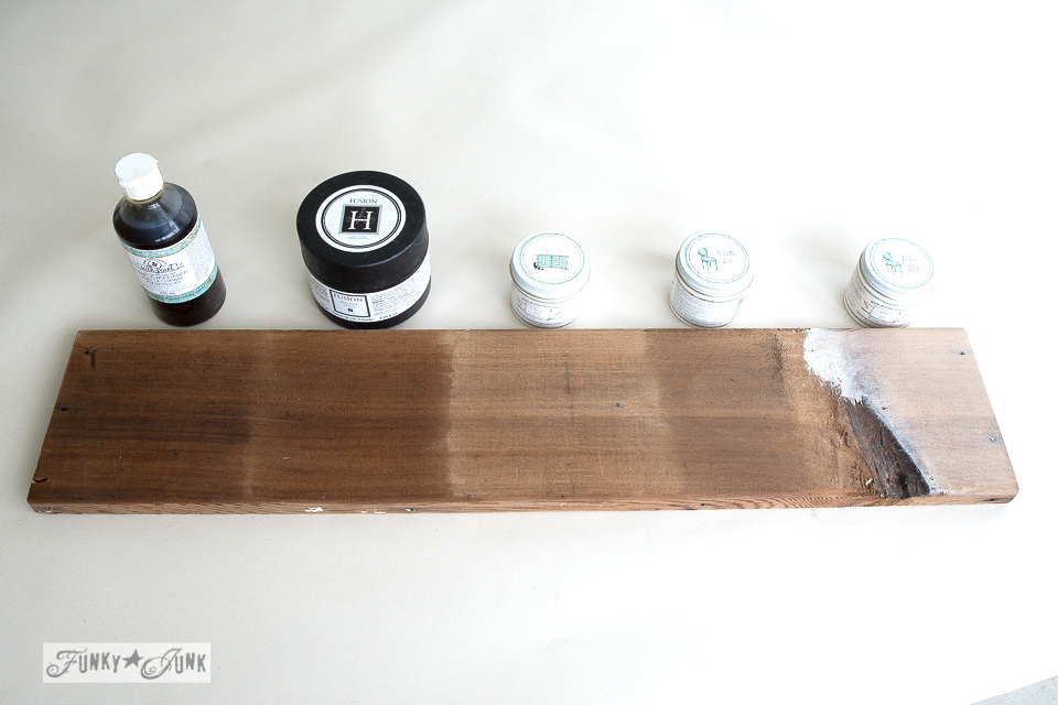 How to protect or refinish wood / a comparison of wood wax and oil with Miss Mustard Seed and Fusion Mineral Paint / funkyjunkinteriors.net