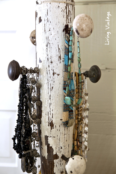 Post porch hanger by Living Vintage featured on FunkyJunkInteriors.net