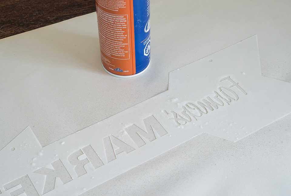 Spray adhesive tips with Funky Junk's Old Sign Stencils