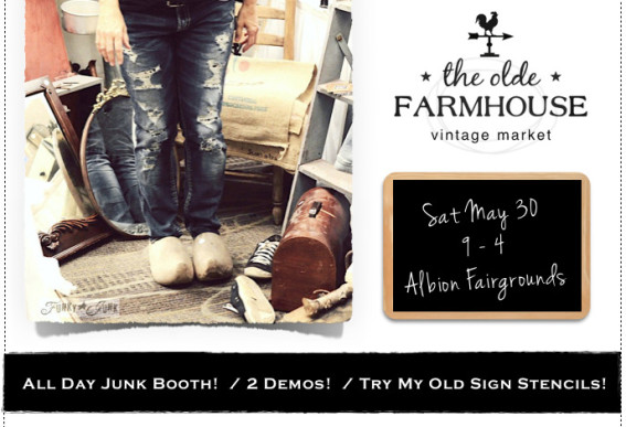 Funky Junk goes junkin' at The Olde Farmhouse Vintage Market.13 PM