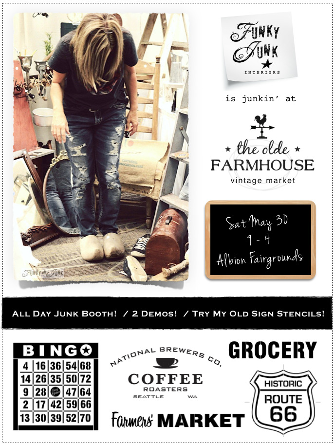 Funky Junk goes junkin' at The Olde Farmhouse Vintage Market