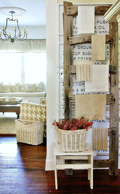 Pallet Wood Ladder By Thistlewood Farms Featured On Funky Junk Interiors