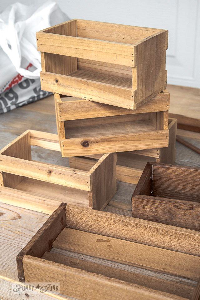 mini sized wooden crates