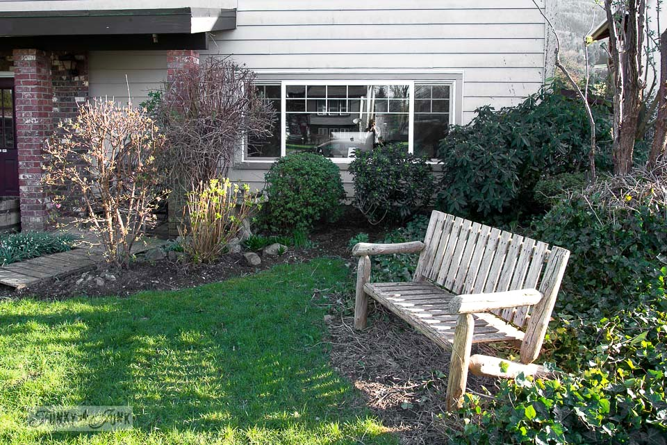 Pruned bushes in the garden / Growing rust in a spring yard / FunkyJunkInteriors.net