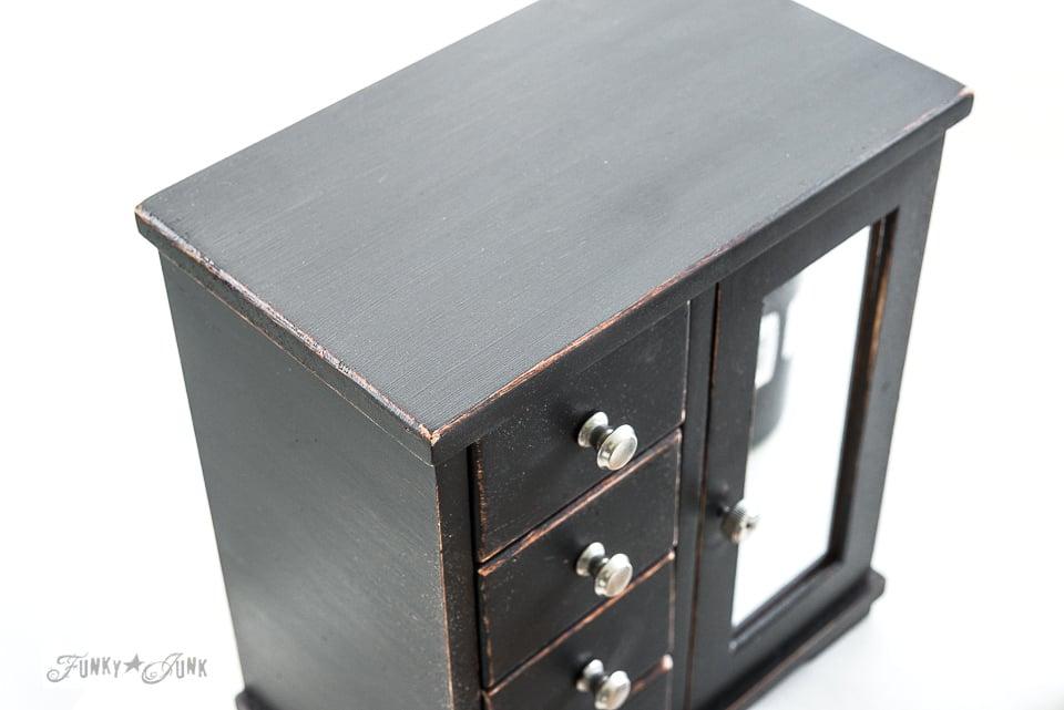 Jewelry box Barbie doll dresser / Upcycled rustic doll furniture / FunkyJunkInteriors.net