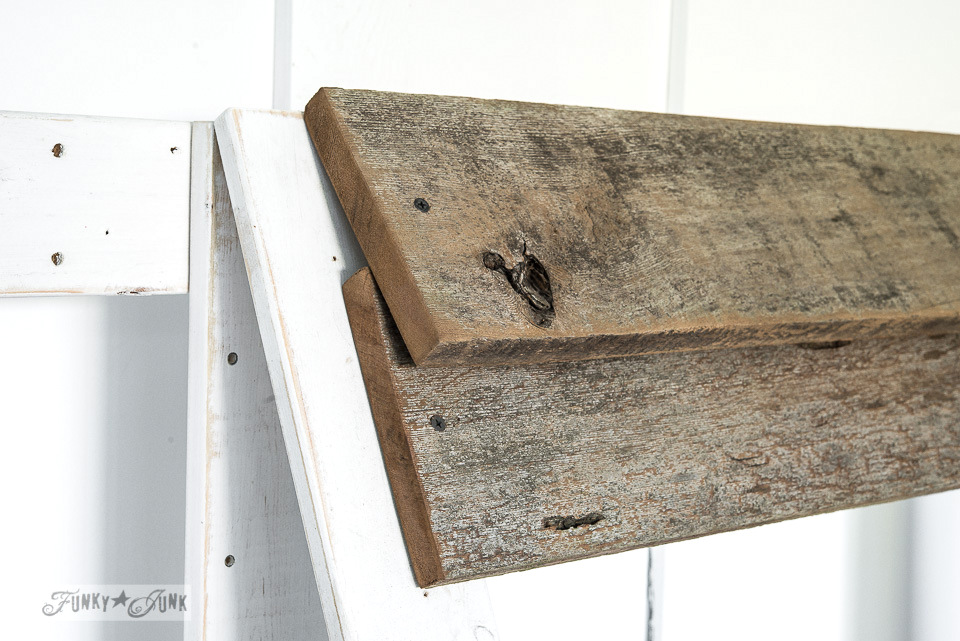Reclaimed wood shingles / Upcycled rustic doll furniture / FunkyJunkInteriors.net