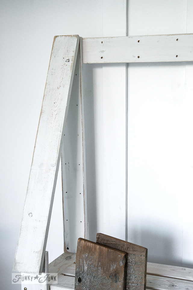 House frame / Upcycled rustic doll furniture / FunkyJunkInteriors.net