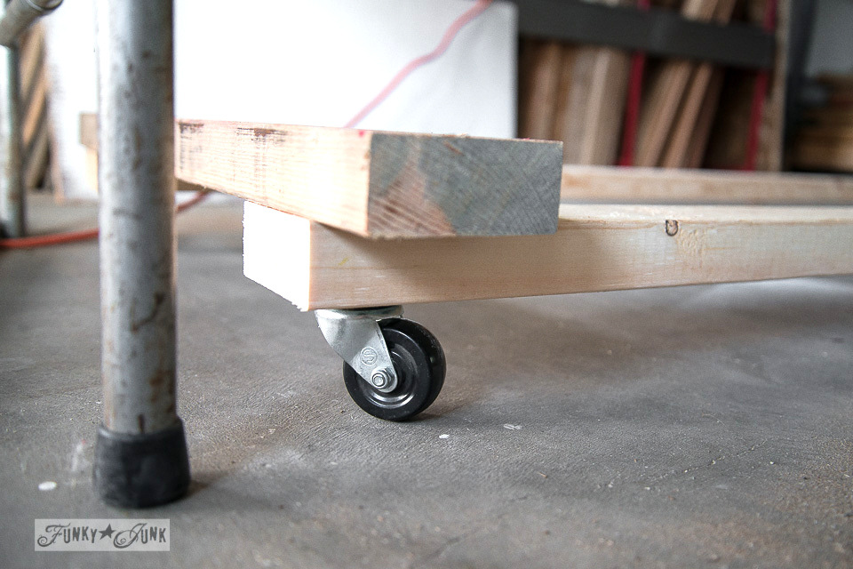 casters on 2x4 wood frame cart