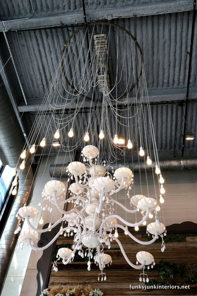 Industrial glam chandelier / The opulence of Las Vegas / FunkyJunkInteriors.net