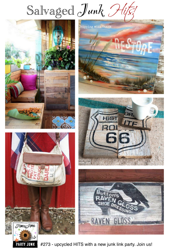 Salvaged Junk Hits plus a junk link party! Funky Junk Interiors.04 PM