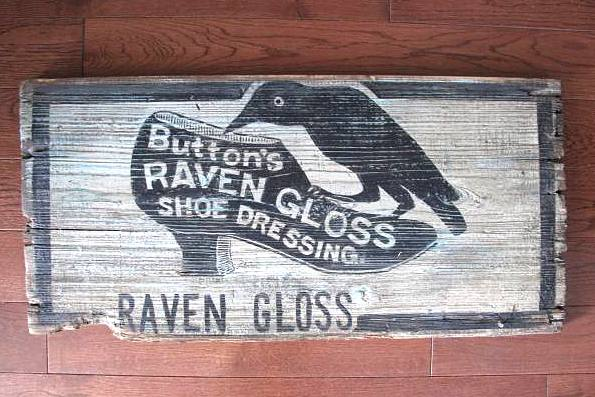 Vintage crow sign by Scavenger Chic, featured on Funky Junk Interiors