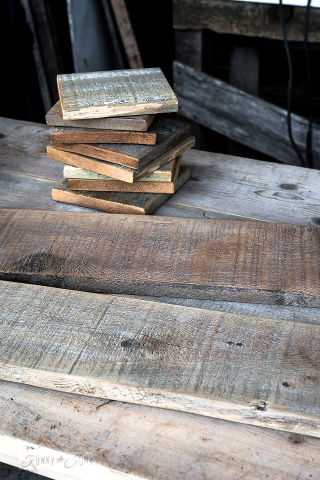 The easiest way to clean reclaimed wood / wood tone variation / FunkyJunkInteriors.net