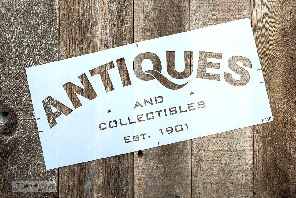 Antiques stencil