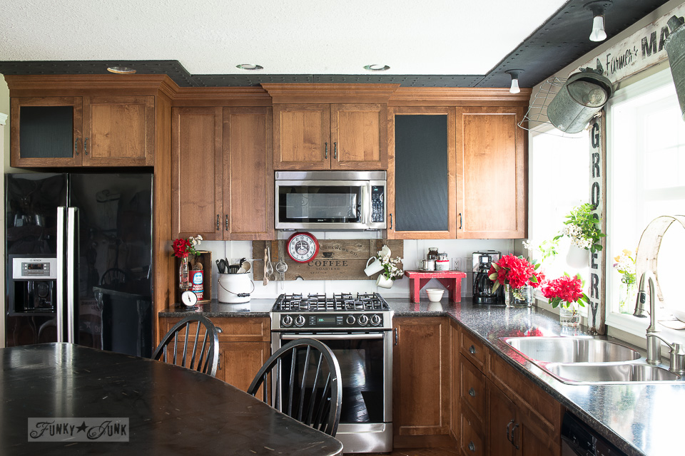 Shaker kitchen cupboards / Funky Junk's 2015 Summer Home Junk Tour / FunkyJunkInteriors.net