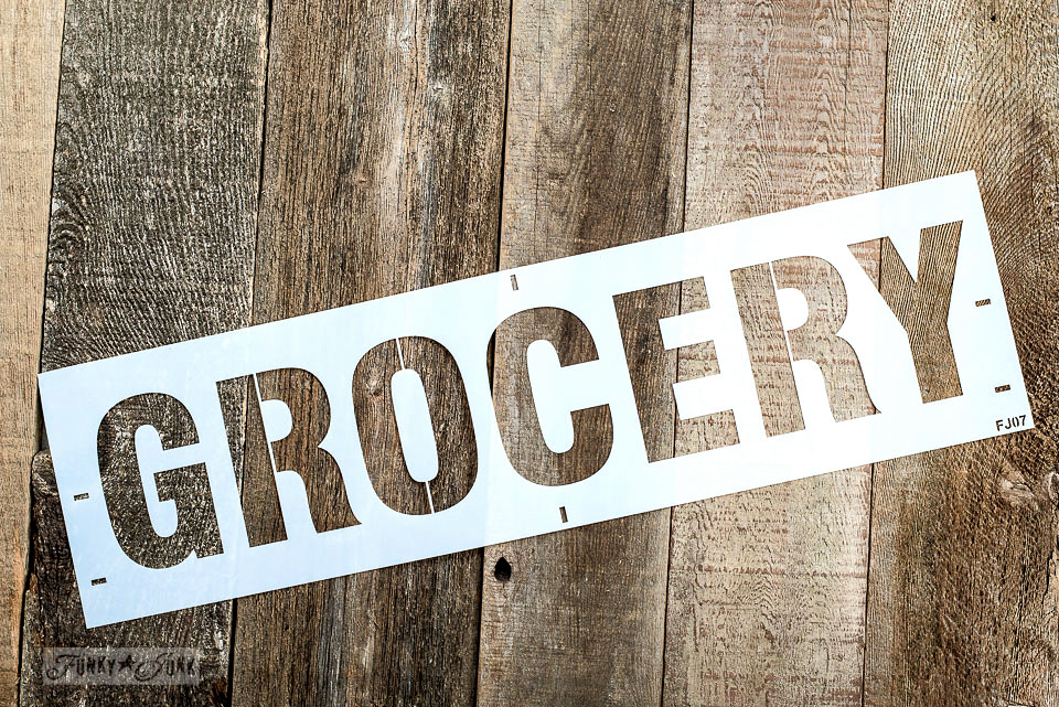 Grocery stencil / Funky Junk's Old Sign Stencils