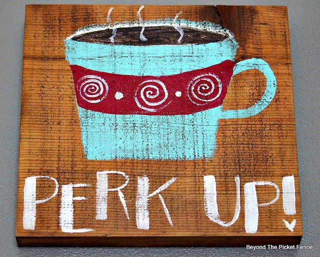 Coffee Signs, by Beyond the Picket Fence, featured on Funky Junk Interiors