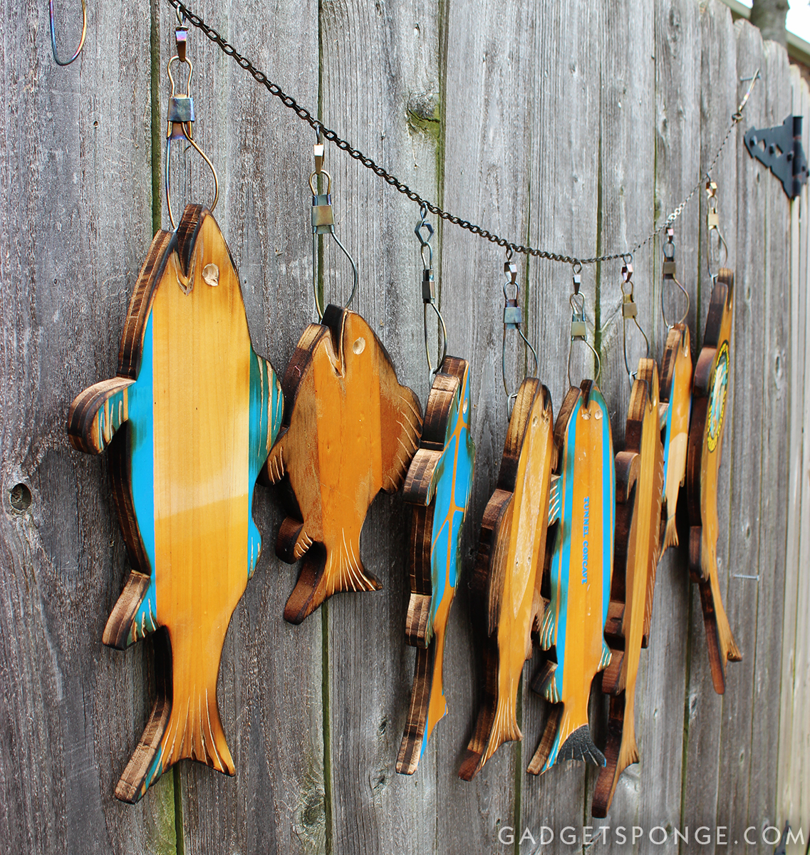 Vintage water ski fish, by GadgetSponge, featured on Funky Junk Interiors