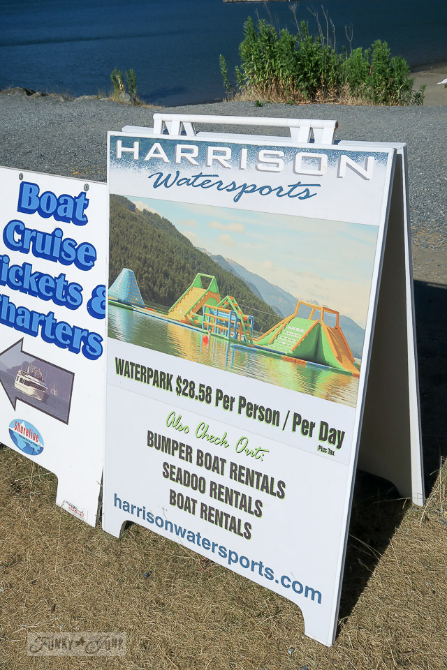 Harrison Watersports Waterpark on Harrison Lake / Harrison Hot Springs, BC / FunkyJunkInteriors.net