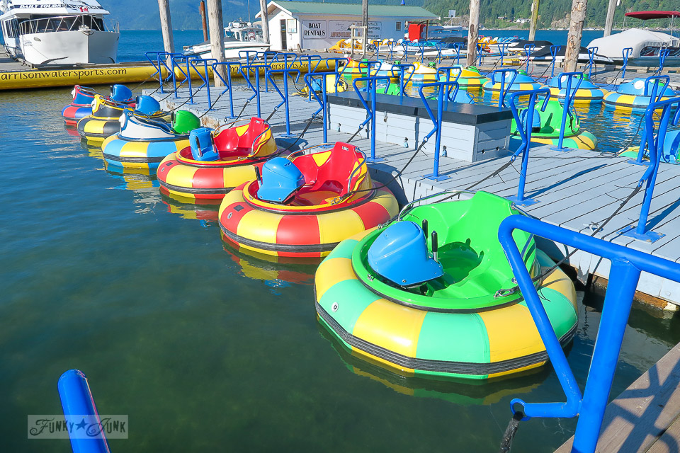 Harrison Watersports Bumper boats / Harrison Hot Springs, BC / FunkyJunkInteriors.net