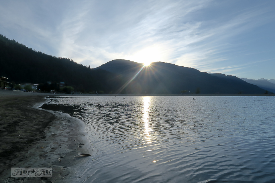 Sunset on the beach at Harrison Lake / Harrison Hot Springs, BC / FunkyJunkInteriors.net