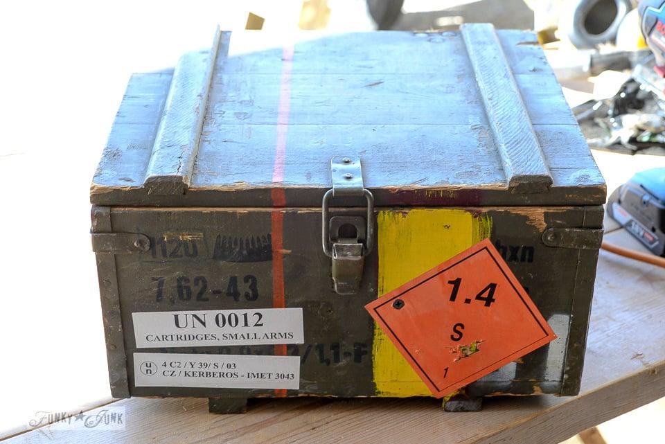 Ammunition crate workshop cabinet / funkyjunkinteriors.net