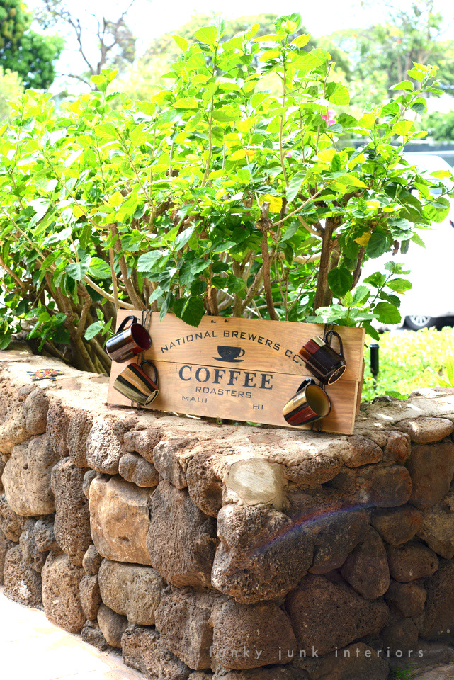 Maui coffee sign made in Maui / funkyjunkinteriors.net
