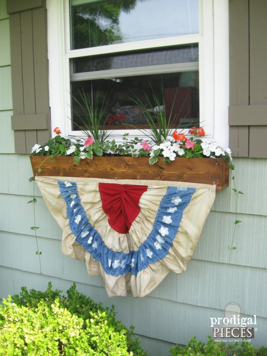 Patriotic bunting, by Prodigal Pieces, featured on Funky Junk Interiors