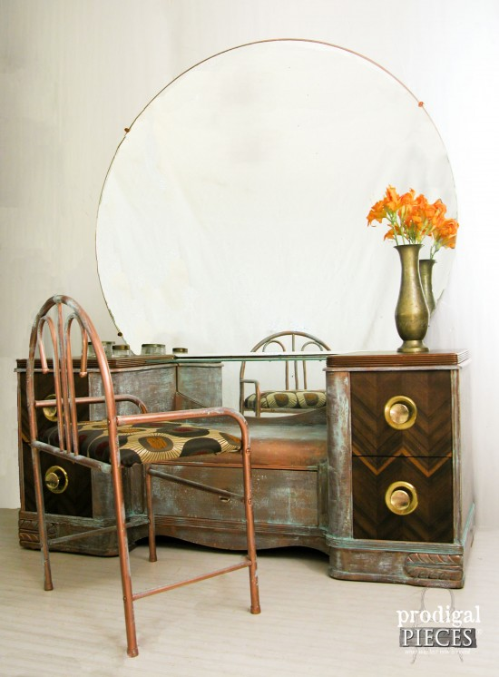 Industrial Art Deco Makeover by Prodigal Pieces, featured on Funky Junk Interiors