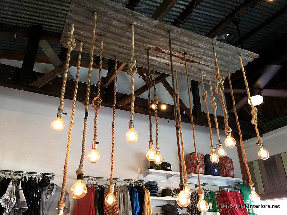 rope and tin light at Prospect in Paia, Maui / funkyjunkinteriors.net
