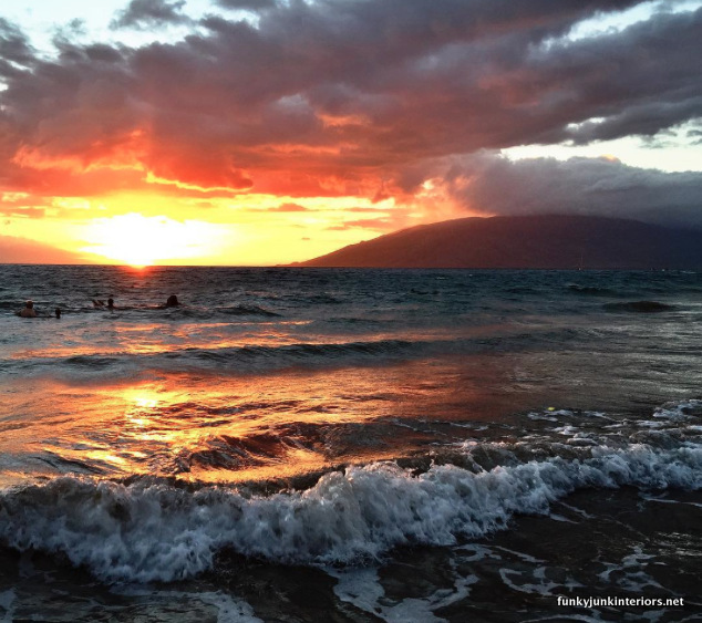 Sunsets in Maui, shot with an iPhone 6+ - part of All my current favorite camera gear and where I use it | funkyjunkinteriors.net