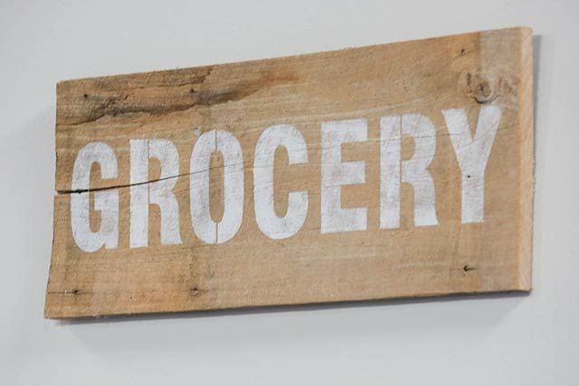 GROCERY, from Funky Junk's Old Sign Stencils, on Marilyn Dennis / funkyjunkinteriors.net