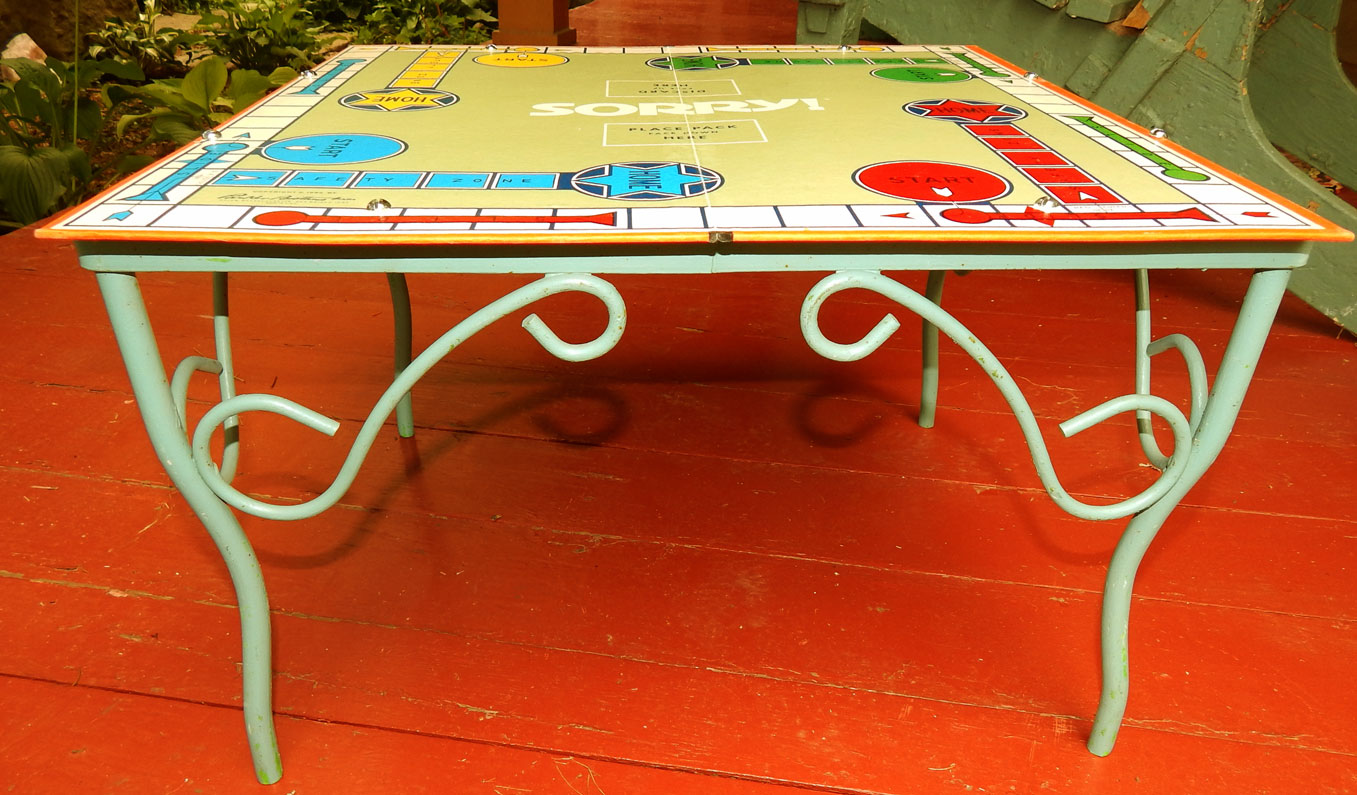 Game Board Coffee Table Upcycle by Saturdays Vintage Finds, featured on Funky Junk Interiors
