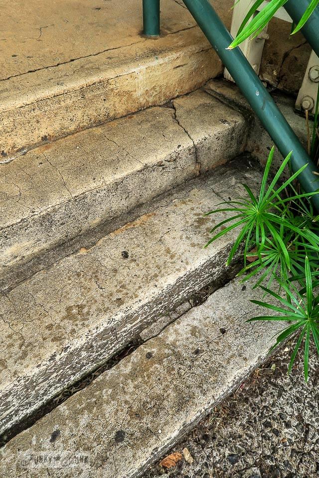 Stone steps in Makawao, Maui / www.funkyjunkinteriors.net