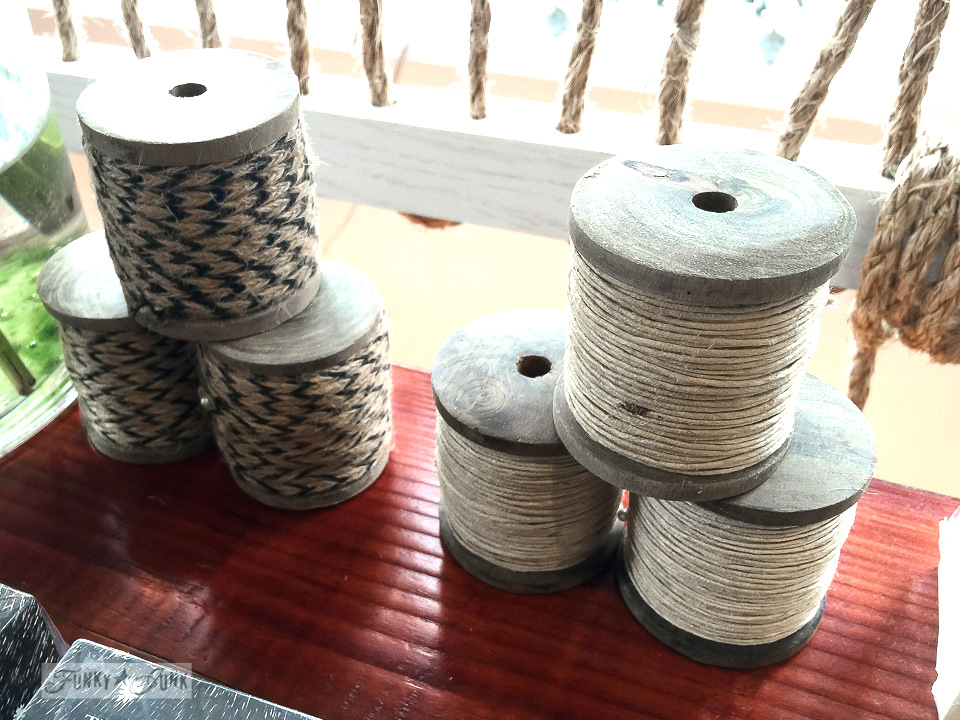 Giant spools of twine in Driftwood, a store in Makawao, Maui / funkyjunkinteriors.net