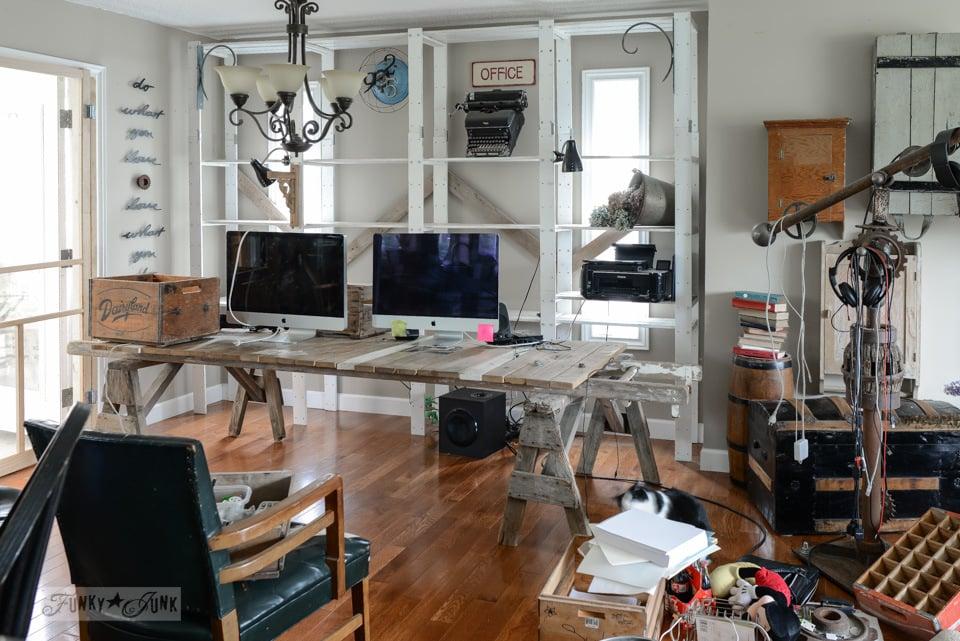 Blog office revamp before / funkyjunkinteriors.net