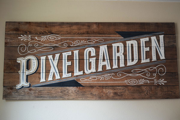 Vintage hand lettered sign by Story Piece, featured on Funky Junk Interiors