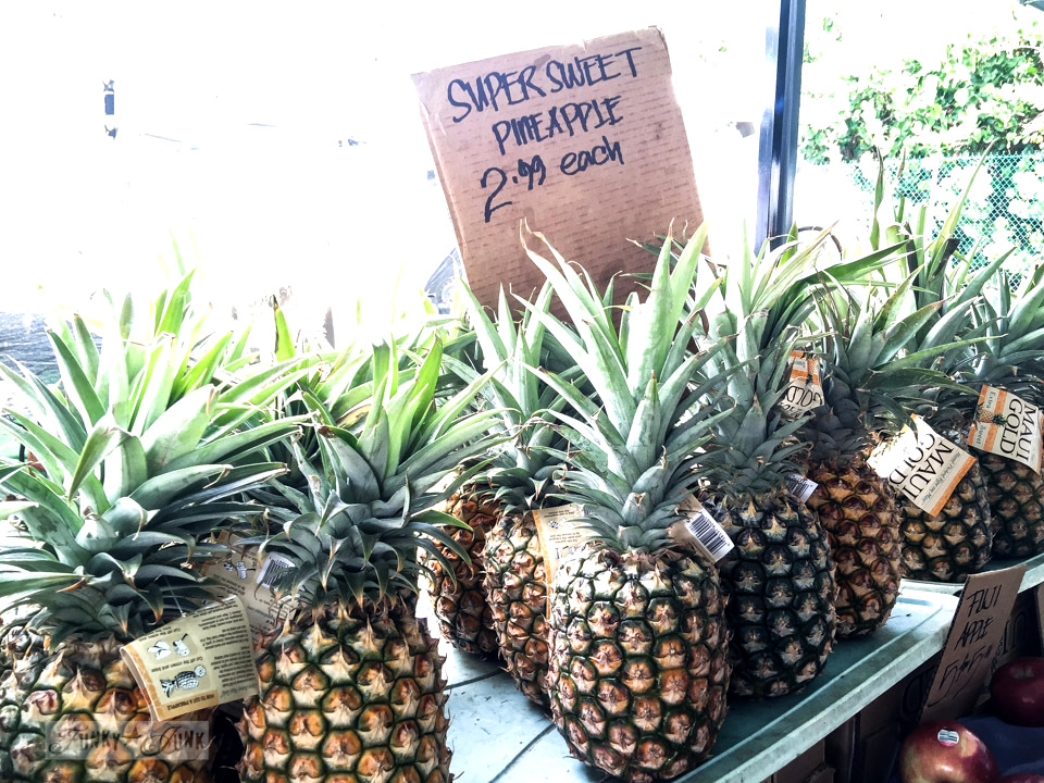 Fresh super sweet pineapple at The Maui Swap Meet / funkyjunkinteriors.net