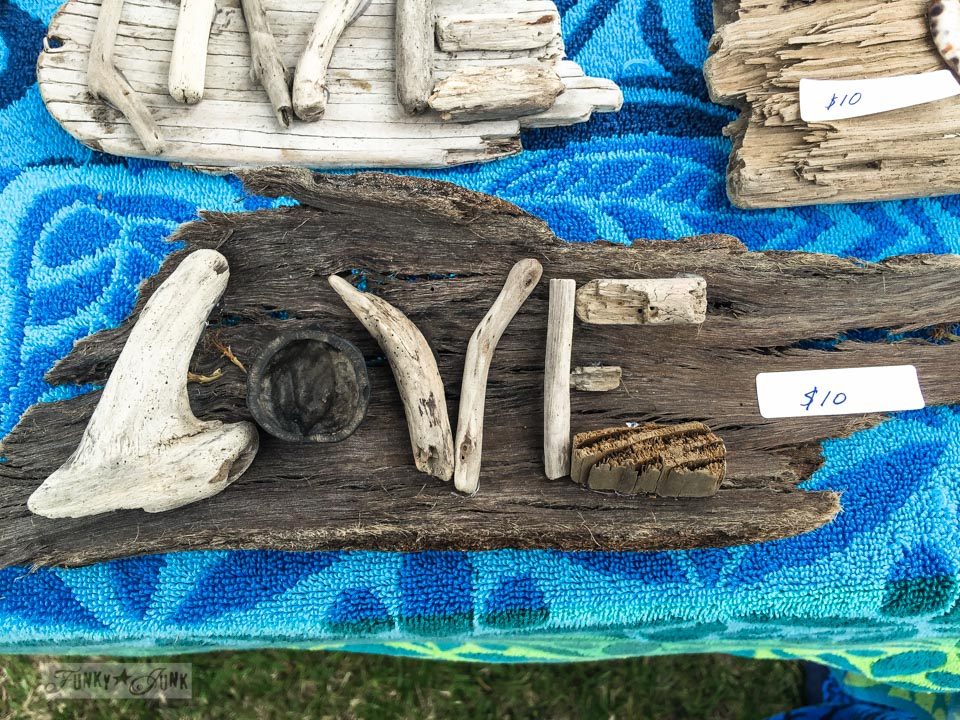 LOVE - Reclaimed wood and driftwood sign art at The Maui Swap Meet / funkyjunkinteriors.net