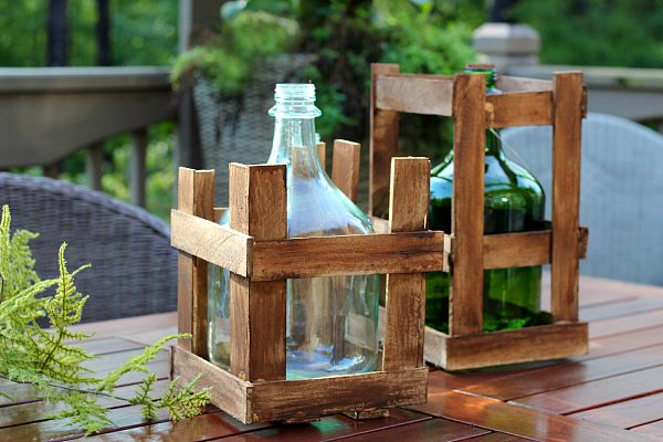 Vintage Demijohn Wine-Bottle and Crate by Refresh Restyle, featured on Funky Junk Interiors