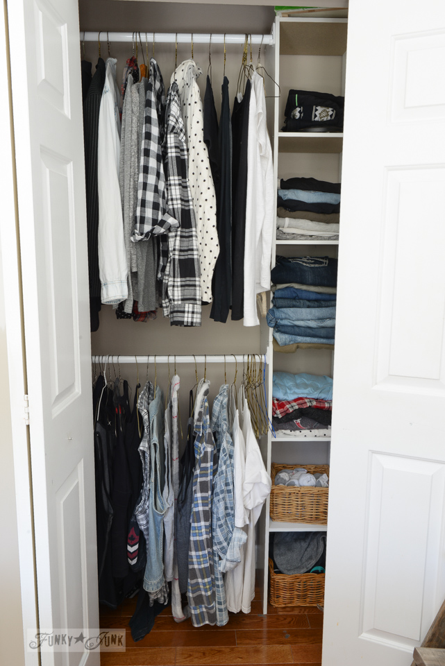 How To Build An Easy Clothes Closet From A 50 Kit Funkyjunkinteriors